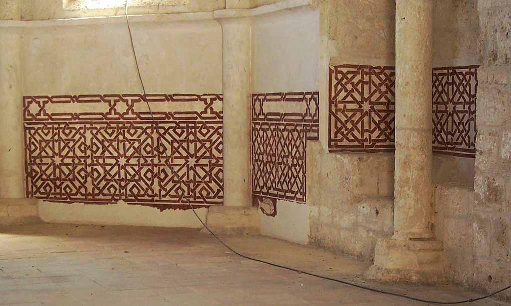 castillo-de-brihuega-pinturas-mudéjares-geométricas