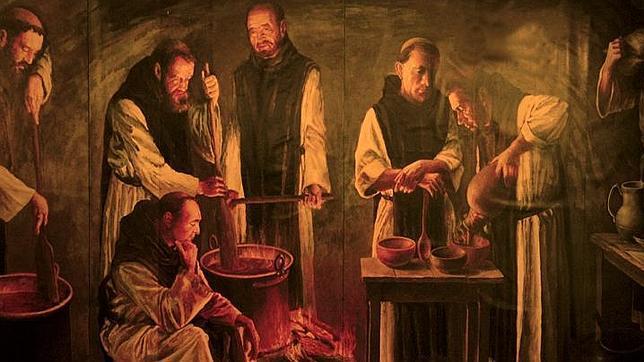 Monasterio-de-Piedra-monjes