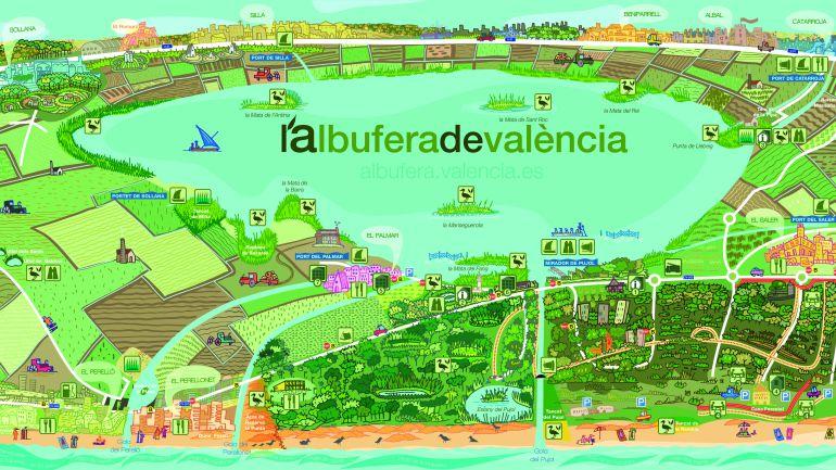 albufera-mapa
